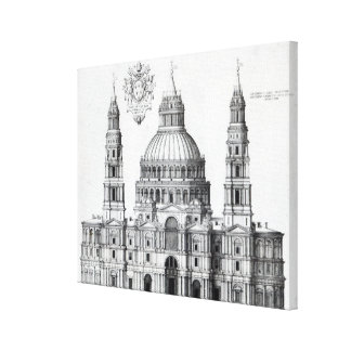 Plan for St. Peter's, Rome, 1539 Canvas Print