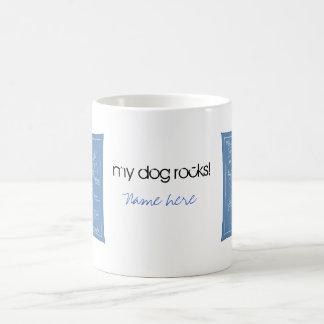 Plan grande de la agilidad - perro del palillo taza básica blanca