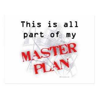 Plan maestro tarjeta postal