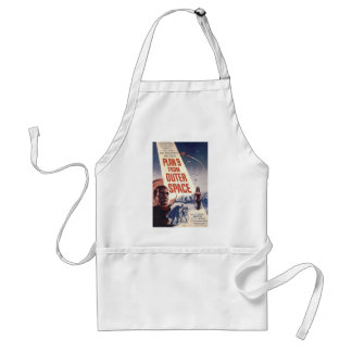 """Plan nine from outer space"""" adult apron"""