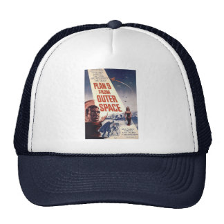 """Plan nine from outer space"""" trucker hat"""