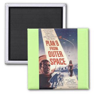"""Plan nueve del espacio exterior """" imán cuadrado"""