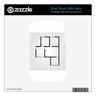 Plan of a small house iPod touch 4G skin
