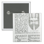 Plan of a Tomb at Cervetri 2 Inch Square Button