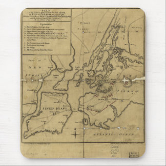 Plan of Attack on Long Island August 27th 1776 Mouse Pad