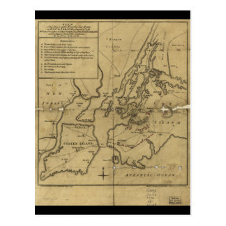 Plan of Attack on Long Island August 27th 1776 Post Card