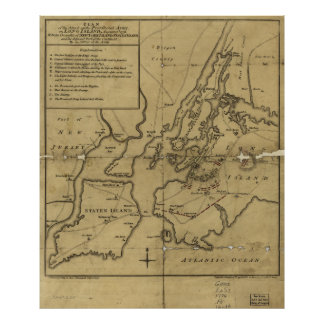 Plan of Attack on Long Island August 27th 1776 Poster
