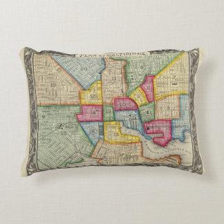 Plan Of Baltimore Decorative Pillow