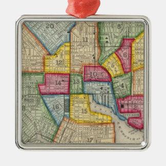 Plan Of Baltimore Metal Ornament
