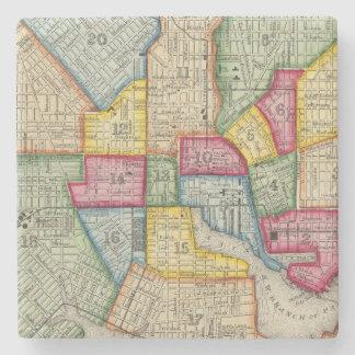Plan Of Baltimore Stone Coaster