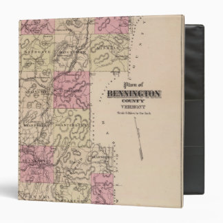 Plan of Bennington County, Vermont 3 Ring Binder