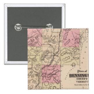 Plan of Bennington County, Vermont Button