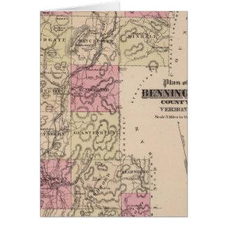 Plan of Bennington County, Vermont Card