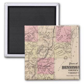 Plan of Bennington County, Vermont Magnet