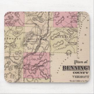 Plan of Bennington County, Vermont Mouse Pad