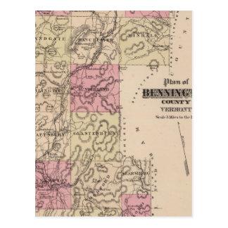 Plan of Bennington County, Vermont Postcard