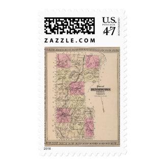 Plan of Bennington County, Vermont Stamp