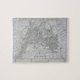 Plan of Birmingham, 1731, published 1789 (engravin Jigsaw Puzzle