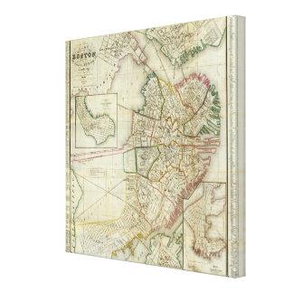 Plan of Boston and Charleston Canvas Print