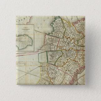Plan of Boston and Charleston Pinback Button