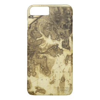 Plan of Boston Map by Henry Pelham (1775-1776) iPhone 8 Plus/7 Plus Case
