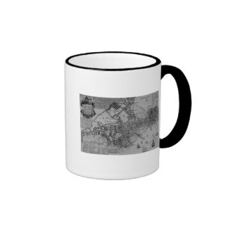 Plan of Boston, New England, 1739 Ringer Mug