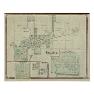Plan of Brazil, Clay Co with Bowling Green Poster