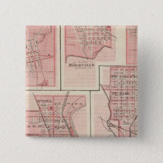 Plan of Cambridge City, Wayne Co with Newport Button