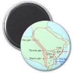 Plan of Carthage 2 Inch Round Magnet