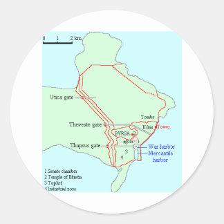 Plan of Carthage Classic Round Sticker