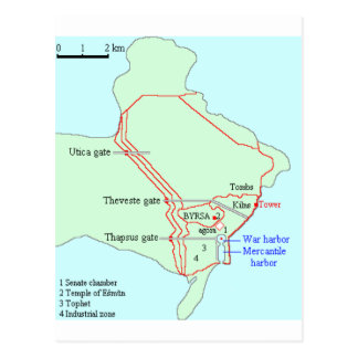 Plan of Carthage Postcard
