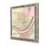 Plan Of Cincinnati And Vicinity Canvas Print