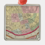 Plan Of Cincinnati And Vicinity Christmas Ornament