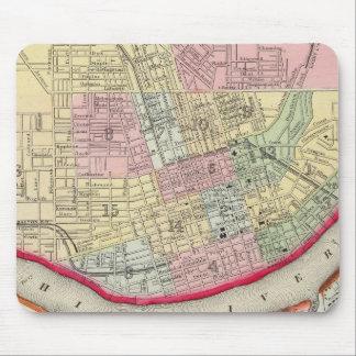 Plan Of Cincinnati And Vicinity Mousepad