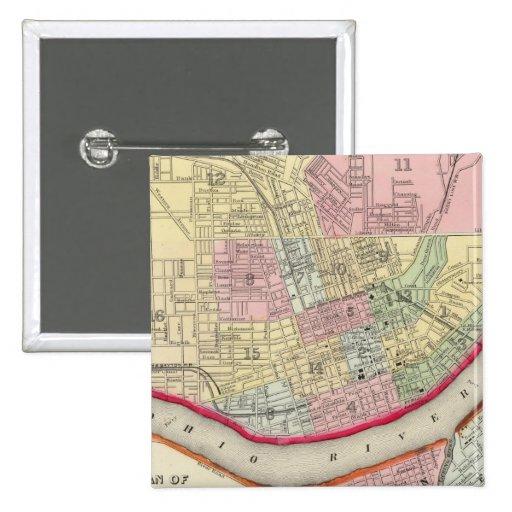 Plan Of Cincinnati And Vicinity Pinback Buttons