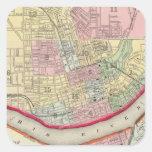 Plan Of Cincinnati And Vicinity Square Sticker