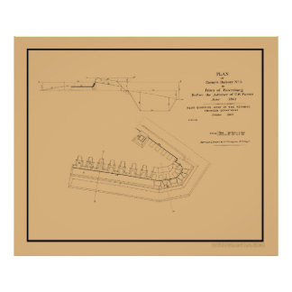 Plan of Confederate Battery no. 5 Poster