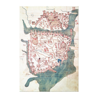 Plan of Constantinople Canvas Print