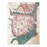 Plan of Constantinople Postcard
