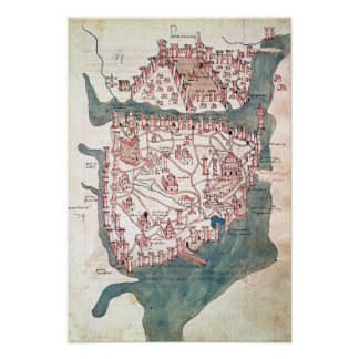 Plan of Constantinople Print