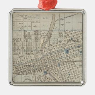 Plan of Des Moines, Polk County, Iowa Metal Ornament
