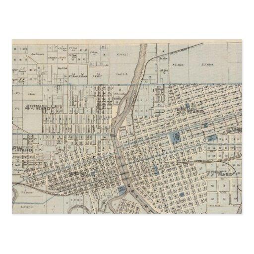 Plan of Des Moines, Polk County, Iowa Postcard