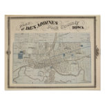 Plan of Des Moines, Polk County, Iowa Poster