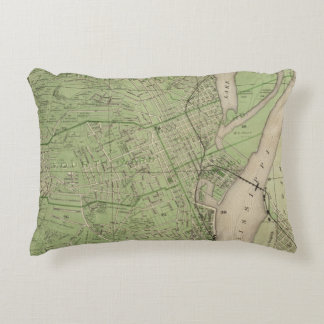 Plan of Dubuque, Dubuque County, State of Iowa Accent Pillow