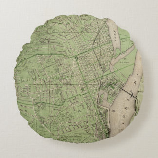 Plan of Dubuque, Dubuque County, State of Iowa Round Pillow