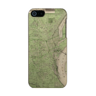 Plan of Dubuque, Dubuque County, State of Iowa Metallic Phone Case For iPhone SE/5/5s