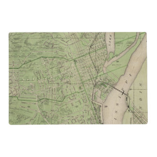 Plan of Dubuque, Dubuque County, State of Iowa Placemat