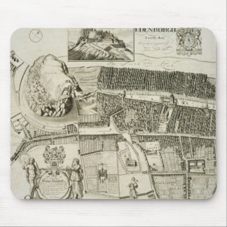 Plan of Edinburgh, pub. by John Smith (c.1652-1742 Mouse Pad