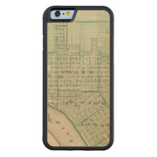 Plan of Evansville, Vanderburgh Co Carved Maple iPhone 6 Bumper Case