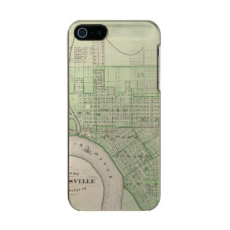 Plan of Evansville, Vanderburgh Co Metallic iPhone SE/5/5s Case